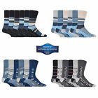 6 Pairs Of Mens Gentle Grip Non Elastic Socks UK 6-11 Assorted Colours - Choose