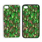 Jungle Leaves -Rubber and Plastic Phone Cover Case- Abstract Design