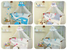 EXCLUSIVE 3 or 10 Piece Baby Nursery Bedding Set To Fit Cot / Cot Bed