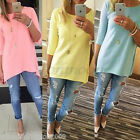 Women Ladies Long Sleeve T Shirts Blouse Top New Casual Loose Tee Tops Cotton
