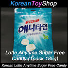 Korean Lotte Anytime Candy 185g Pack Sugar Free, Milk Mint Flavor with Xylitol