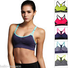 Seamless Womens Racerback Sports Bra Wirefree Padded Yoga Top Tank Workout Gym