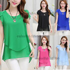 New fashion Women Top Loose Casual Chiffon Summer Short Sleeve t shirt Blouse
