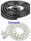 New 2 Metre CABLE TIDY KIT PC TV Wire Organising Wrap Tool Spiral Office Home ✔