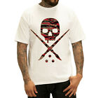 AUTHENTIC SULLEN CLOTHING TIGER CAMO SKULL TATTOO SCENE T SHIRT WHITE