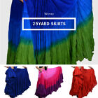 LONG 25 Yard 4 Tier Skirt Belly Dance Gypsy Skirt 39""
