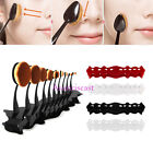 10Pcs Toothbrush Shaped Foundation Oval Brushes Get Display Shelf Drying Holder