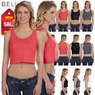 NEW Bella Canvas Women's Poly Cotton Crop Tank M-6680