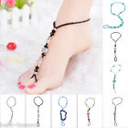 2016 Chic Handmade Korea Multielement Crystal Beaded Braided Rope Anklets
