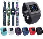 2in1 Silicone Watch Band Sport Strap with Holder For Fitbit Blaze (No Tracker)