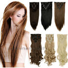 Real Thick,24-26 Inch, Full Head Clip In Hair Extensions,Brown Black Blonde su91