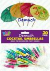 New COCKTAIL STICK With Paper Fruit UMBRELLA PARASOLS Party Drink Decoration UK✔