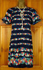 NEW DOROTHY PERKINS NAVY BLUE FLORAL LIGHTWEIGHT SUMMER TUNIC TOP DRESS UK 8-12