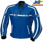 IXS CORNWALL LEATHER MOTORCYCLE JACKET  MOTORBIKE RETRO BLUE CE ARMOUR J&S