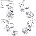 Fashion Silver Letter Heart Daddy Daughter Keychain Key Ring Necklace