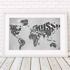 WORLD MAP - Newspaper Wall Chart Poster Print Sizes A5 to A0 **FREE DELIVERY**