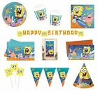 SPONGEBOB SURFING Birthday PARTY RANGE (Partyware/Celebration/Decoration)