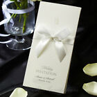 Luxurious Embossing White Wedding Invitations with White Ribbon IP5036