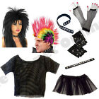 PUNK ROCKER 1980S 80S ROCK FANCY DRESS COSTUME ACCESSORIES LOT