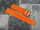 22mm Orange Nylon Diver Strap 3 Rings Watch Band 2 Pieces Type ZULU Maratac 22
