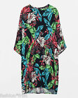 ZARA Woman Black Floral Printed Loose Crepe Tunic Summer Mini Dress Size Small