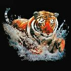NEU Biker Gothic Chopper Fantasy T-Shirt Tiger 3D Motiv Splash S - 6XL
