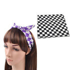 1 pc Check Pattern Bandanas Cotton Neck Headwear Mask Scarf Hand Towel Head Wrap