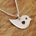 925 Sterling Silver Love Bird With Heart Pendant Necklace Handcrafted & Gift Box