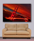 "Huge canvas print,Golden Gate Bridge, Night photography, San Francisco 30""x40"""