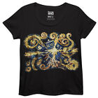 Doctor Who Van Gogh Exploding TARDIS Art Licensed Womens Plus Size T-Shirt