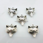 32/300pcs Tibetan Silver DIY Crafts Fox Charms Pendants 15x18mm