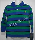 Genuine Polo Ralph Lauren Boys Long Sleeve Cotton Polo - Small Pony