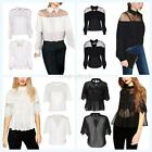 Women Summer Lace Floral Chiffon T-shirt Clubwear Party Blouse Pleated Crop Top