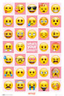Emoji - What's Your Emoji - Fun - Poster Druck - Größe 61x91,5 cm