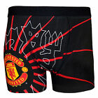 Manchester United Football Club Official Soccer Gift Mens Crest Boxer Shorts