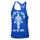 Bodybuilding Tank Top Muskelshirt blau Marke Golds Gym Sport Training Stringer