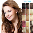 Full Head Clip in 100% Remy Human Hair Extensions 26inch 11Colors 120g