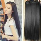 "CLIP IN ONE PIECE 100% REMY HUMAN HAIR EXTENSIONS FULL HEAD 20"" 100G 12Colors"
