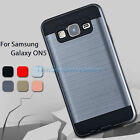 Hybrid Armor Brushed Case Shockproof Dual Layer Cover for Samsung Galaxy ON5
