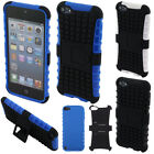 For Apple iPod Touch 5 5th/ 6 6th Gen KICKSTAND Hybrid Hard Rubber Case Cover