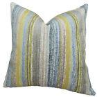Plutus Brands Spoft Strie Cornflower Handmade Throw Pillow