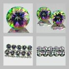4mm Matched Lot 1,2,10pcs Round Cut Natural MYSTIC GREEN TOPAZ