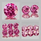 4mm Matched lot 1,2,6pcs Round Cut Natural PINK TOPAZ