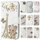 Bling Flip Crystal PU Leather Card Wallet Case Stand Cover For Samsung Galaxy