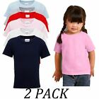 2-PACK-Gildan tshirts Tops-Heavy Cotton Toddler T-Shirt-Crew Neck Short Sleeve