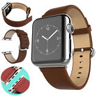 New Leather Watch Band Strap Bracelet Classic Buckle For Apple Watch Gift