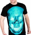 Rock Chang 100% COTTON FULL HD Fire Skull Biker Heavy Metal Tattoo Punk ROCK