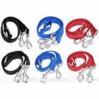 Nylon Double Dual Two Pet Puppy Dog Leash 1 Lead 2 Way Coupler Walk Necklace New
