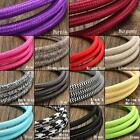 1/2/3/5/10M 2 Core Color Vintage Twist Braided Fabric Light Cable Electric Wire