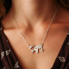 Fashion Women's World Map Choker Statement Abstract Charm Pendant Necklace BD